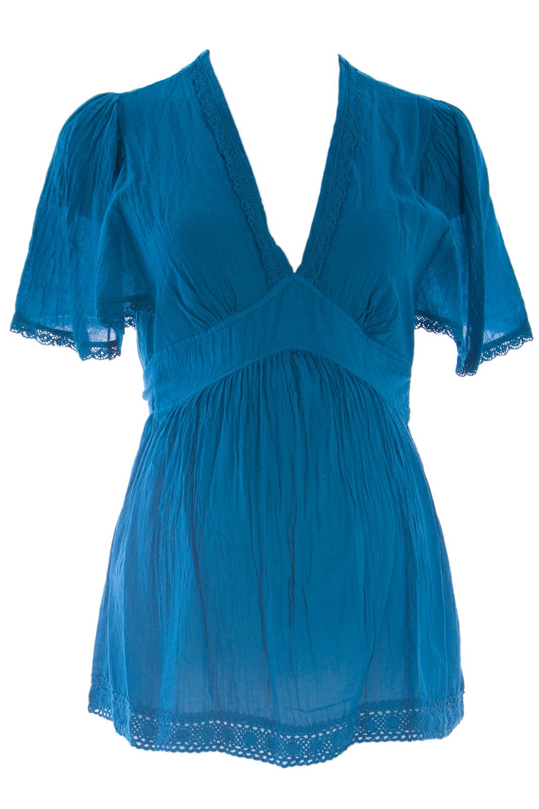 OLIAN Maternity Women's Batwing Sleeve Waist Tie Tunic Top XS
