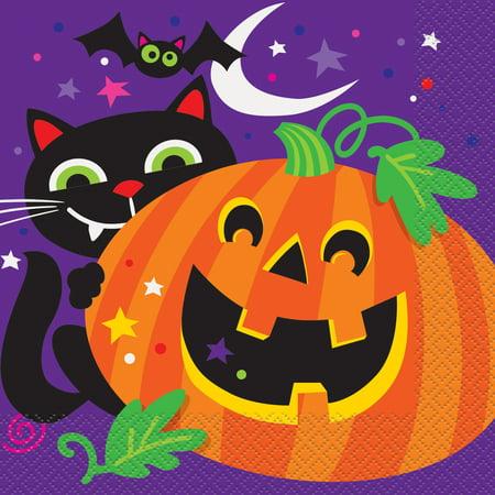 Happy Halloween Paper Luncheon Napkins, 6.5in,