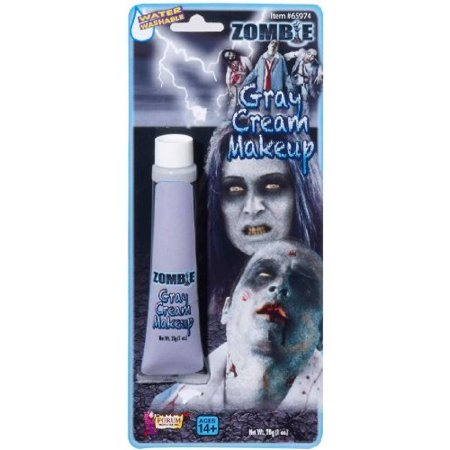 Zombie Gray Tube Makeup Halloween Accessory, Adult