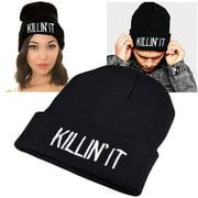 Zodaca Black Style 3 Unisex Knit Hip-hop Beanie Hats