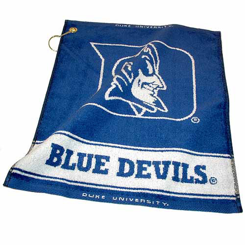 Team Golf NCAA Duke Jacquard Woven Golf Towel
