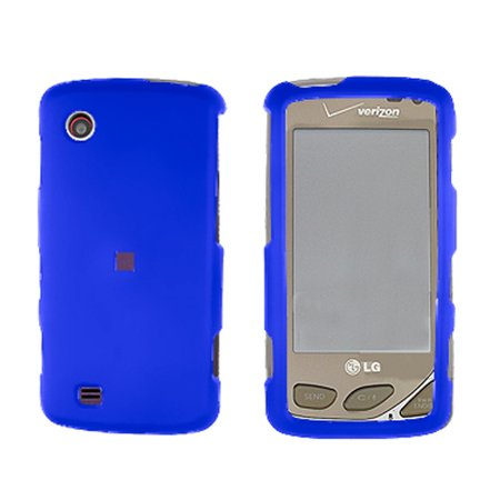 Blue Snap-On Hard Case Cover for LG Chocolate Touch VX8575 (Lg Vx8500 Vx8550 Chocolate)