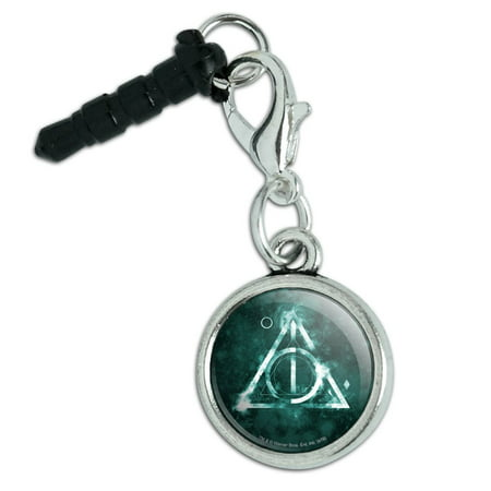 Harry Potter Deathly Hallows Logo Mobile Cell Phone Headphone Jack Anti-Dust Charm fits iPhone iPod
