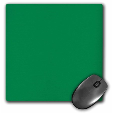 3Drose Jungle Forest Green   Plain Simple One Single Solid Color   Matte Emerald Green  Mouse Pad  8 By 8 Inches