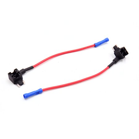Astonishing 2 Pcs Diy Car Vehicle Add A Circuit Atm Dual Fuse Wire Adapter Wiring Cloud Hisonuggs Outletorg