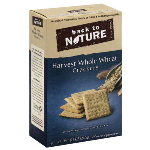 Back to Nature Harvest Whole Wheat Crackers, 8.5 oz, (Pack of