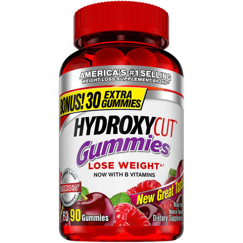 Hydroxycut Weight Loss Supplement, Mixed Fruit Gummies, 90 Ct