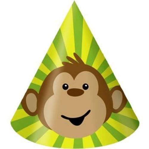 Monkey Around Party Hats (8-pack) - Party Supplies
