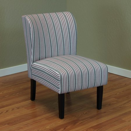 Upholstered Stripe - Sauzon Red Stripe Upholstered Chair
