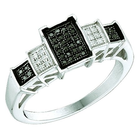 Dia Collection - Dazzlingrock Collection 0.15 ctw-Dia Micro-Pave Ring, White Gold, Size 7