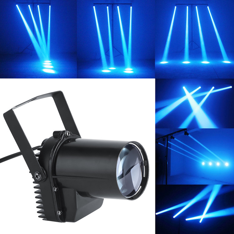 Walfront Disco LED Party Lights, 30W Stage Lights DJ Light Sound Activated Projector Light Stage Lighting with IR Remote for Wedding Show Club Bar AC 110V-220V (1Pcs)