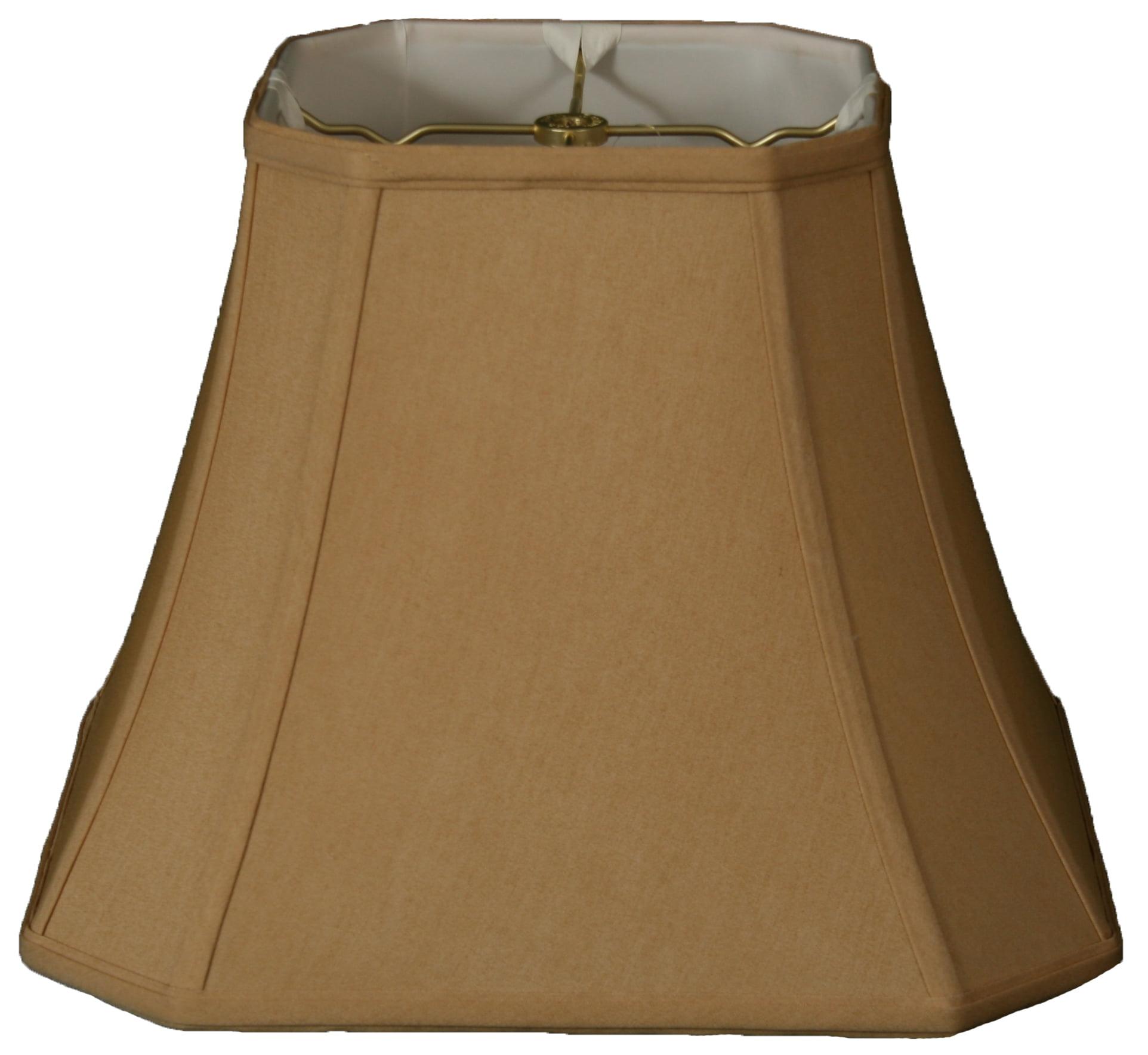 "Royal Designs 16"" Square Cut Corner Bell Lamp Shade Antique Gold"