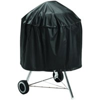 Omaha Kettle Grill Cover With Draw Cord, Vinyl, Black