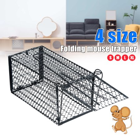Mouse Rat Rodent Traps, Metal Reusable Feral Mice Chipmunk Trap Humane Rodent Cage for Squirrel Mole Gopher Chicken Opossum Skunk Size:S-XL