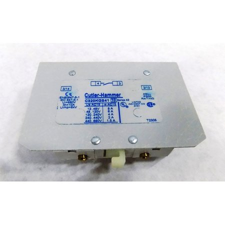 C320KGS41 FREEDOM SERIES CONTACTOR AUXILIARY CONTACT -NEMA SIZE 00-2 - 600V 10 AMP (C320 Series)