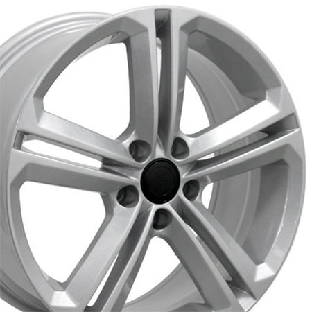Vw Golf Gti Valve (OE Wheels 18 Inch VW CC Style Fits: Volkswagen GTI Jetta EOS CC Tiguan Rabbit Passat Golf Beetle | VW18 Painted Silver 18x8 Rim Hollander)
