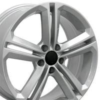 OE Wheels 18 Inch VW CC Style Fits: Volkswagen GTI Jetta EOS CC Tiguan Rabbit Passat Golf Beetle | VW18 Painted Silver 18x8 Rim Hollander 69924