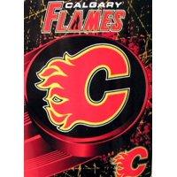 Calgary Flames NHL 46x60 Ice Dash Micro Raschel Plush Throw