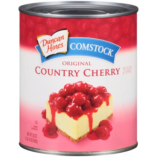Duncan Hines® Comstock® Original Country Cherry Pie Filling & Topping 30 oz. Can