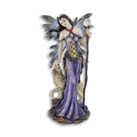 Winter Fairies (Gothic Butterfly Winged Winter Fairy w/ Wolf)