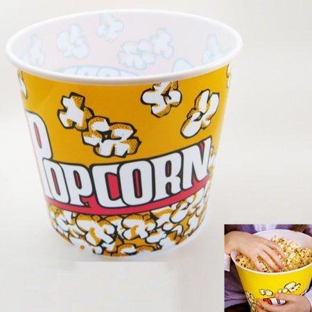 - Set of 4 Retro Style Jumbo Popcorn Plastic Bowl Container Movie Theater Style Bucket 9