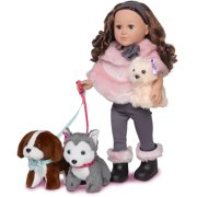 My Life As Doll-of-the-Year Dogwalker 18-inch Posable Doll with a Soft Torso, Brunette