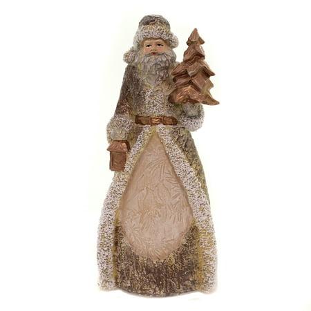 Christmas SANTA WOODLAND FIGURINE Polyresin Reindeer Birds Tree 132742 Birds ()