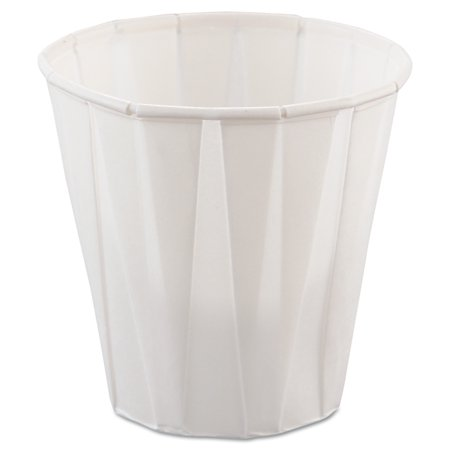 SOLO Cup Company Paper Medical & Dental Treated Cups, 3.5oz, White, 100/Bag, 50 Bags/Carton