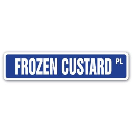 FROZEN CUSTARD Street Sign dessert sweet pastry food meal | Indoor/Outdoor | 24