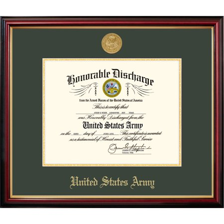 Medallion Picture Frame (Patriot Frame's Army 8.5x11 Discharge Petite Frame with Gold)