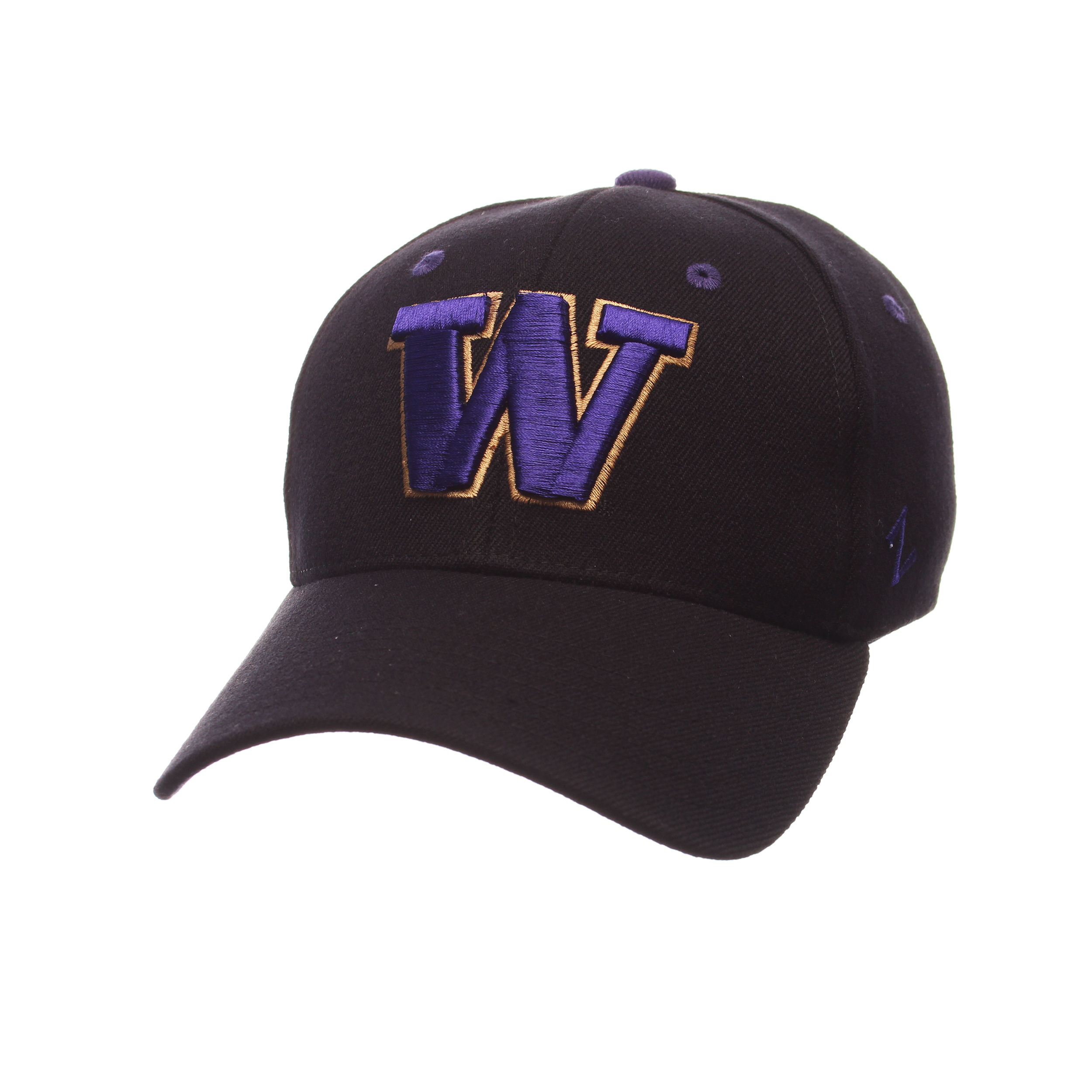 Washington Huskies ZH Alternate 2 Stretch Hat (Black) by Zephyr