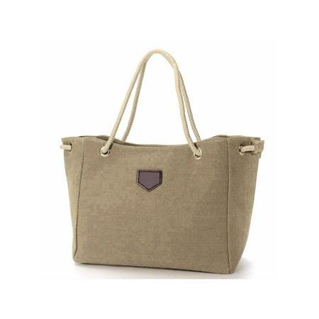 - Meigar Women Large Travel Handbag Canvas Tote Shoulder Bag Satchel Messenger Shopping Bag