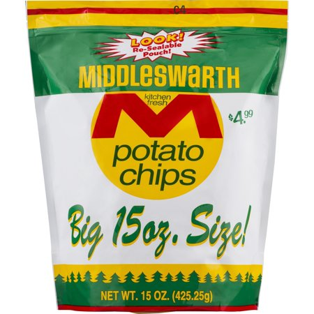Middleswarth Kitchen Fresh Potato Chips    Big Bag 15 Oz   2 Bags