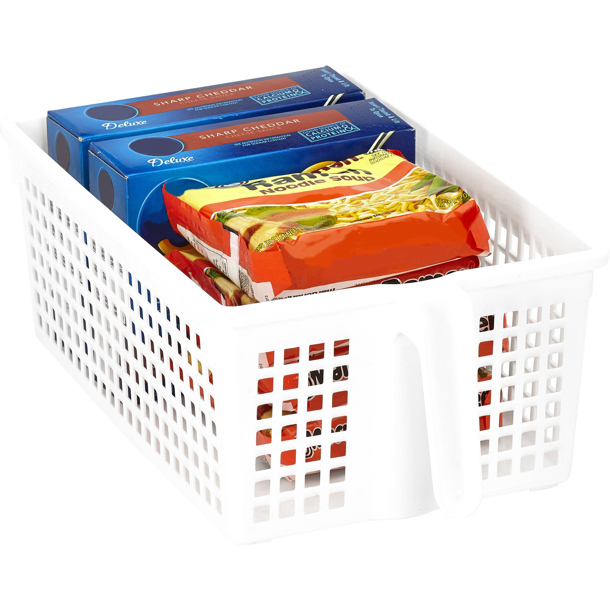 Kitchen Details Easy Pull Pantry Organizer Basket with Handle Grip, Medium