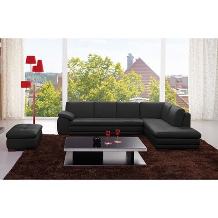 Incredible Jm Furniture Bergamo Leather Sectional Walmart Com Evergreenethics Interior Chair Design Evergreenethicsorg