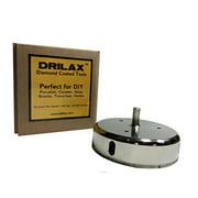 Drilax 4-1/2 inch  Diamond Tipped Drill Bit Hole Saw for Ceramic, Porcelain Tiles, Glass, Fish Tanks, Marble, Granite, Quartz Diamond Coated Circular Saw - Kitchen, Bathroom, Shower, Faucet Drilling