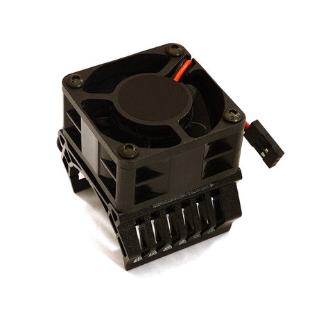 Integy RC Toy Model Hop-ups C28601BLACK 36mm Motor Heatsink+40mm Fan 16k rpm for 1/10 Slash 4X4, Stampede 4X4, 4-Tec 2.0