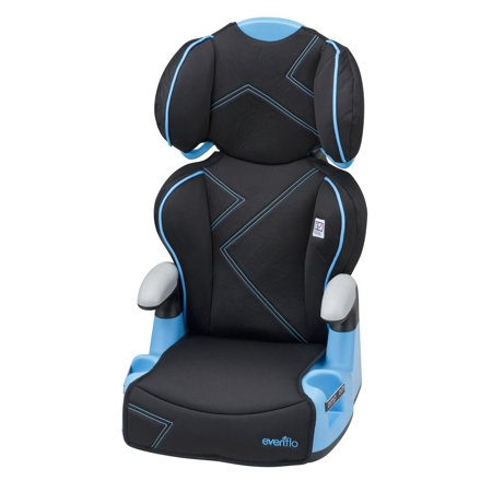 Evenflo AMP High Back Car Seat Booster Blue Angles
