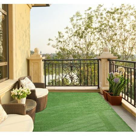 Ottomanson Evergreen Indoor/Outdoor Artificial Grass Turf Area Rug ()