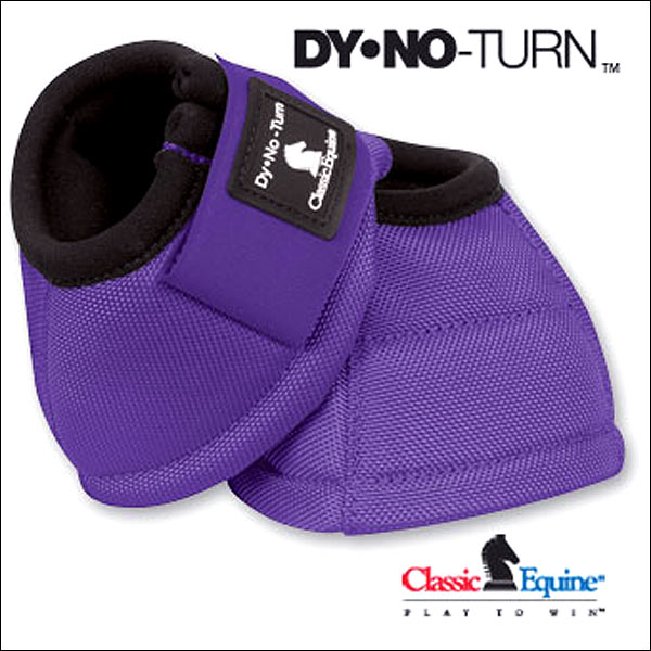 LARGE PURPLE CLASSIC EQUINE DYNO HORSE NO TURN BELL BOOTS PAIR