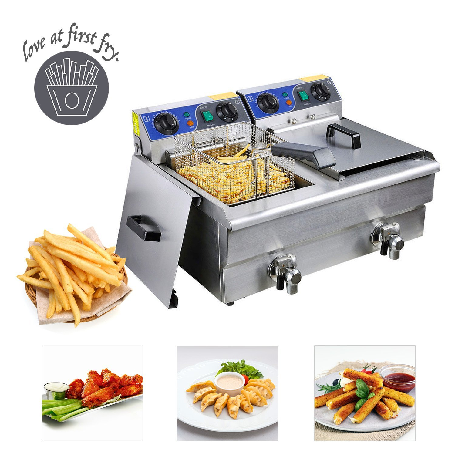 Koval Inc. Stainless Steel Commercial Electric Deep Fat F...