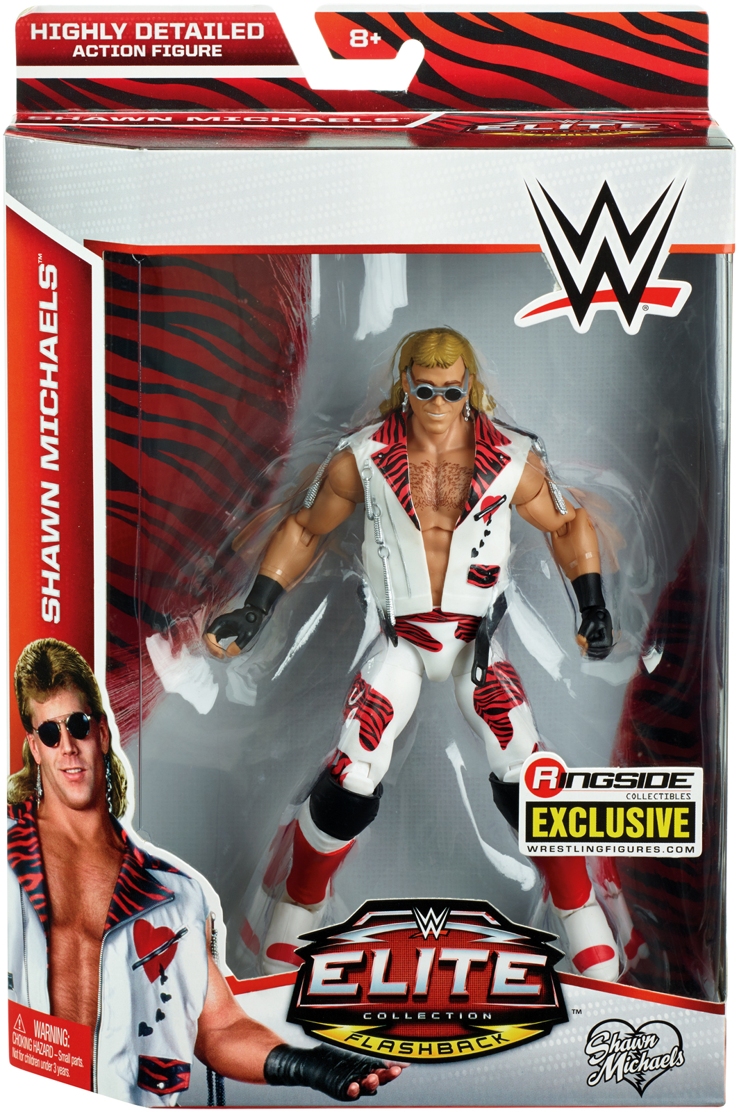 Heartbreak Kid (HBK) Shawn Michaels Ringside Exclusive WWE Toy Wrestling Action Figure by