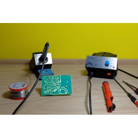 Laminated Poster Solder Tin Soldering Station Electronics Board Poster Print 11 x 17 ()