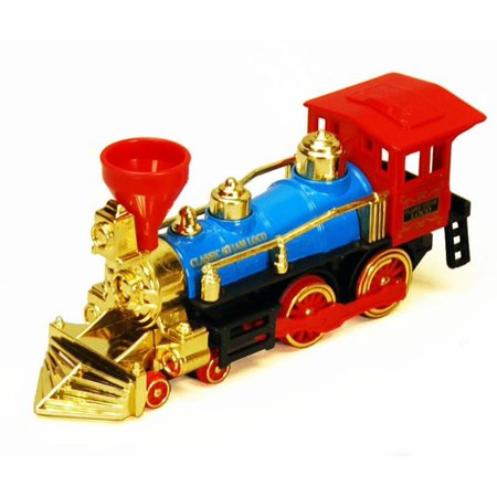 Classic Team Locomotive Train, Blue with Red & Gold - Showcasts 9935D - 7 Inch Scale Diecast Model Replica (Brand New, but NOT IN BOX)