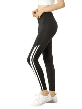 Allegra K Leggings Polainas De Rayas De Cintura El/ástica para Mujer
