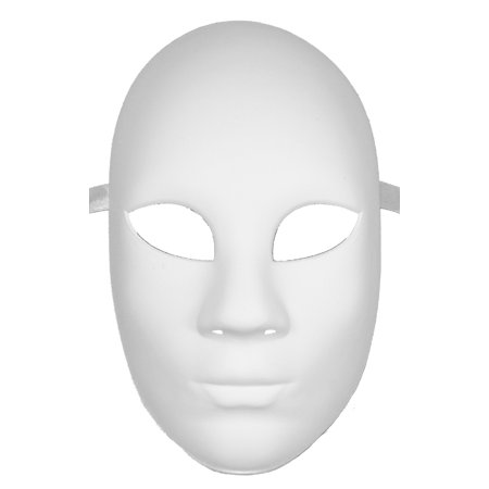 plastic craft mask blank masks plain white resin walmart com