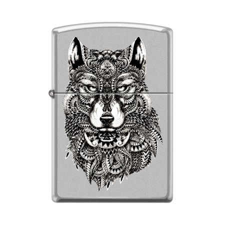 Zippo Custom Design Ethnic Totem Native American Indian Wolf Windproof Collectible Lighter - Made in USA Limited Edition & Rare