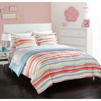 Heritage Club Laguna Colorful Stripes Bed in a Bag Bedding Set w/ Reversible Comforter