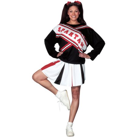 Spartan Girl Cheerleader Adult Halloween Costume](Eagles Cheerleader Costume)