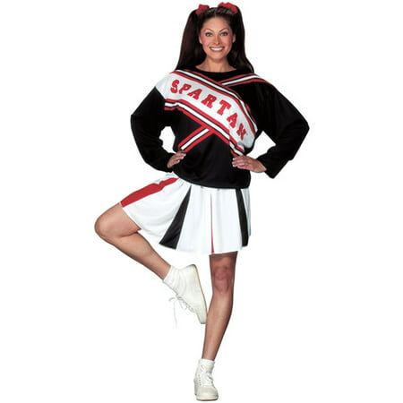 Spartan Girl Cheerleader Adult Halloween Costume (Eagles Cheerleaders Halloween Costume)